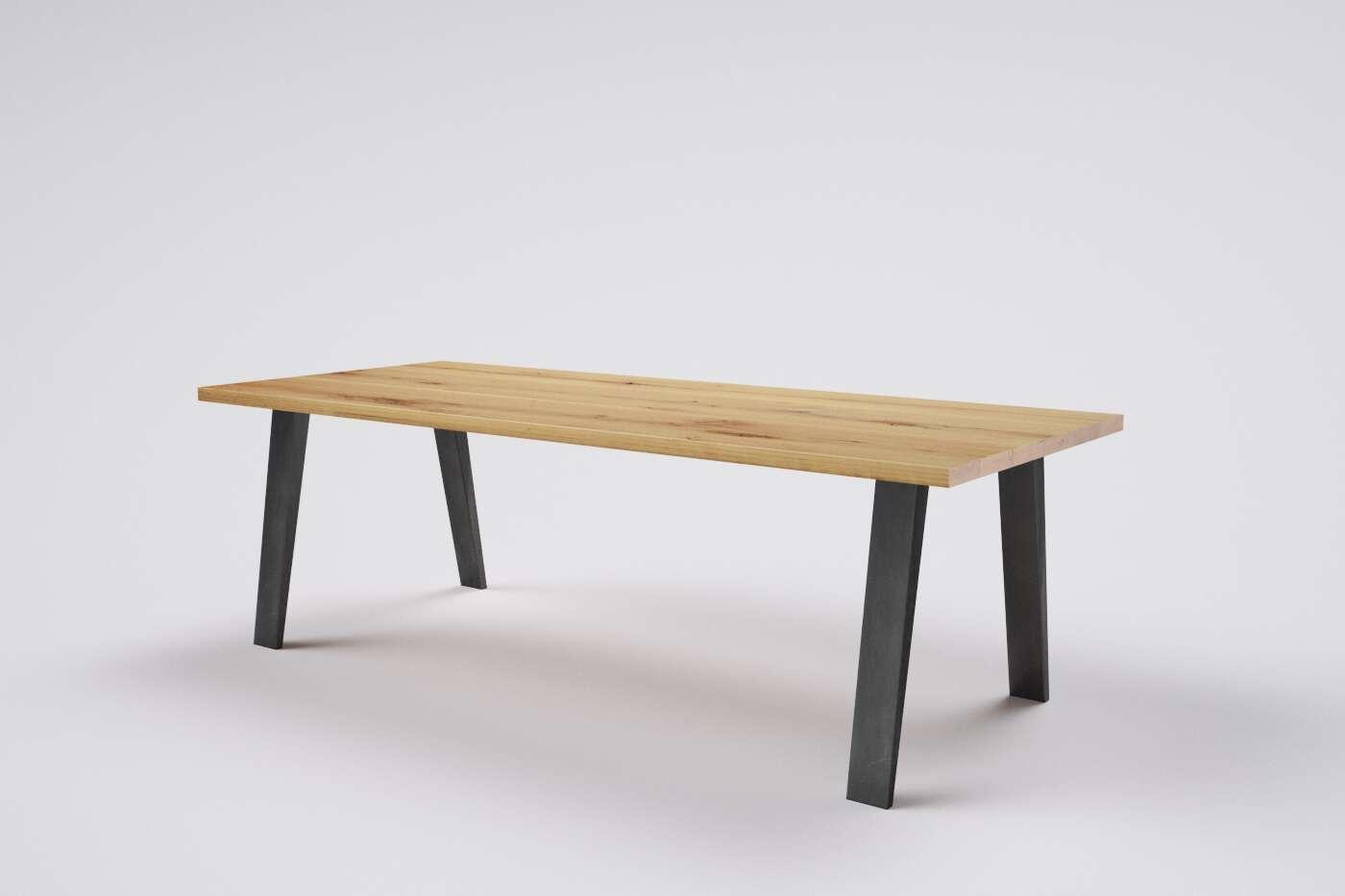 holztisch massiv eiche nach mass wohnsektion. Black Bedroom Furniture Sets. Home Design Ideas