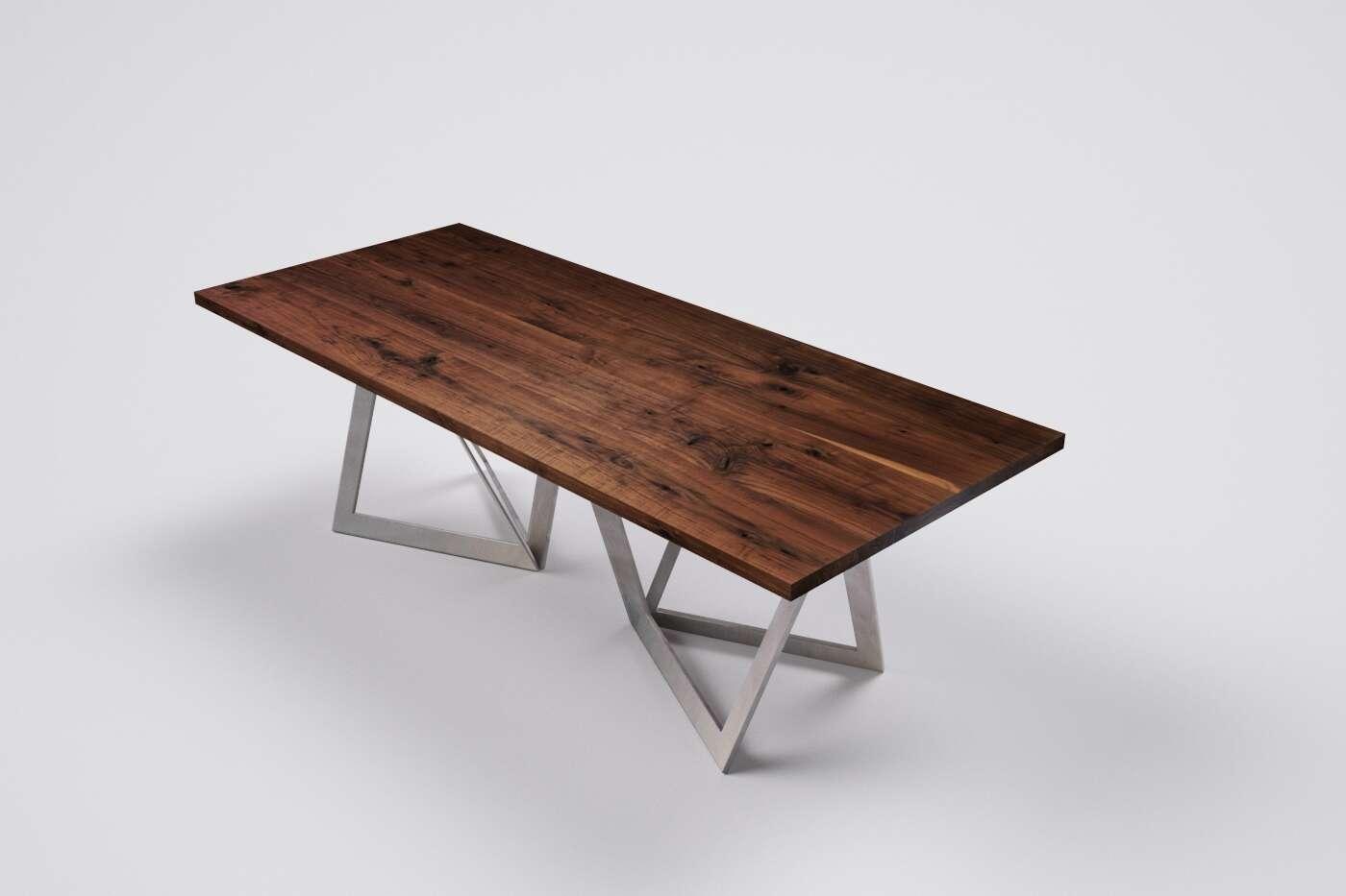 holztisch nussbaum massiv auf mass wohnsektion. Black Bedroom Furniture Sets. Home Design Ideas
