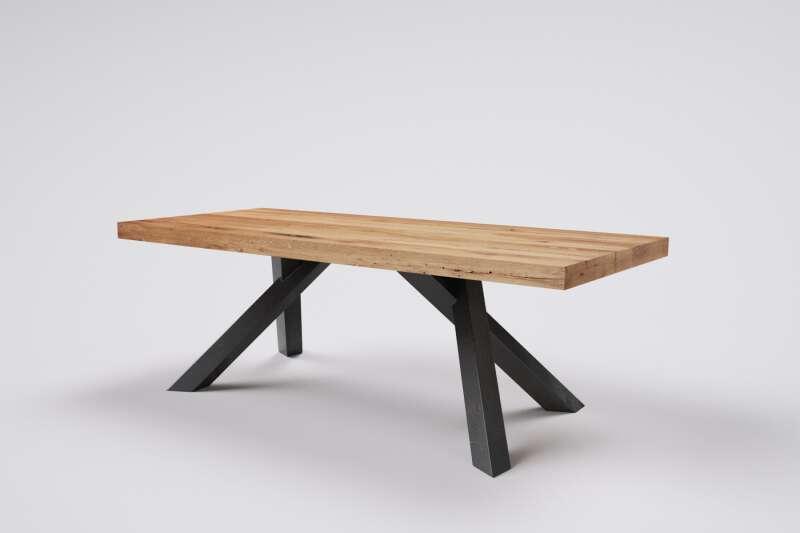 Holztisch alte Eiche nach Mass Merte mit Tischbeinen