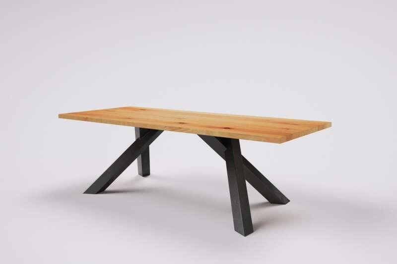 Buche Massivholztisch Merte mit Tischbeinen nach Maß