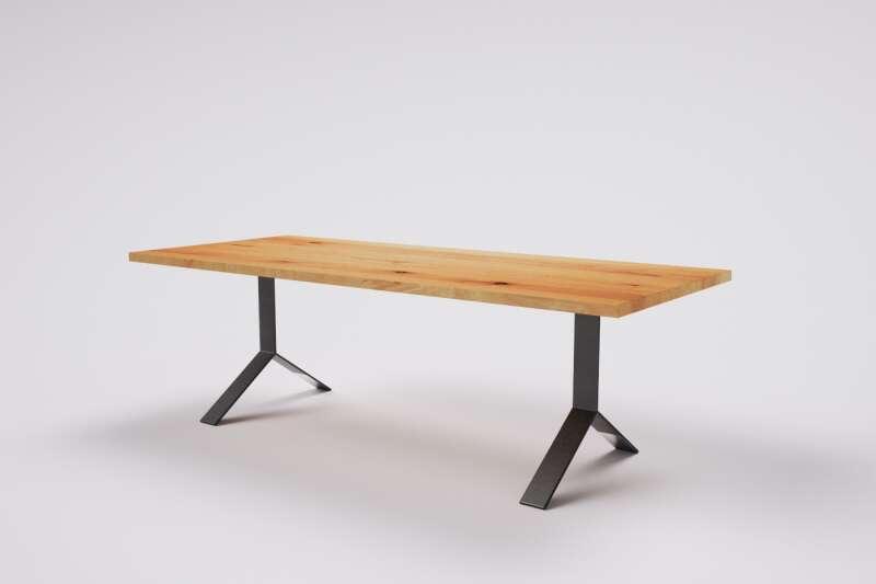 Holztisch Buche auf Mass Greta mit Tischbeinen