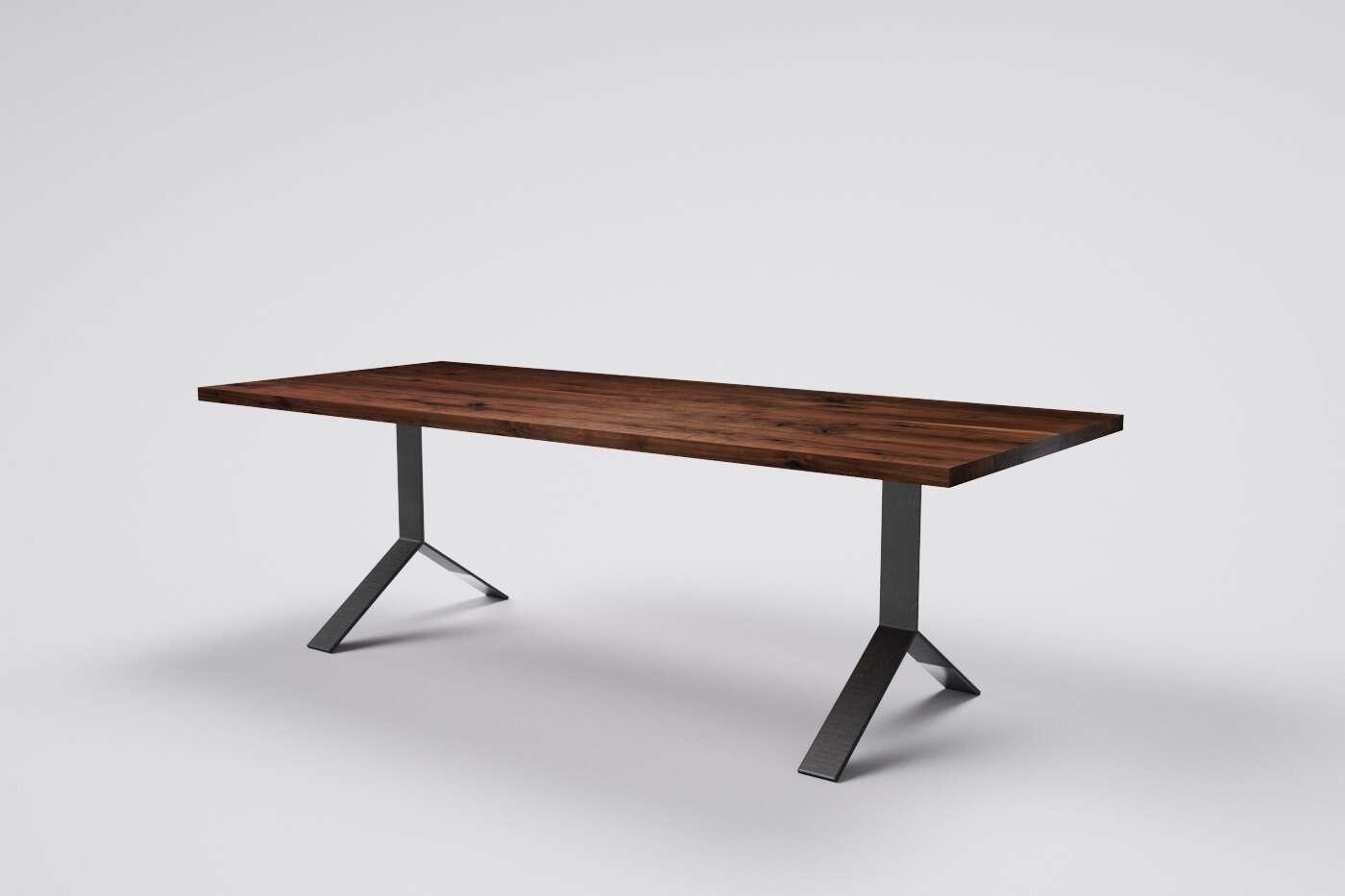 Nußbaum Massivholz Tisch | Wohnsektion