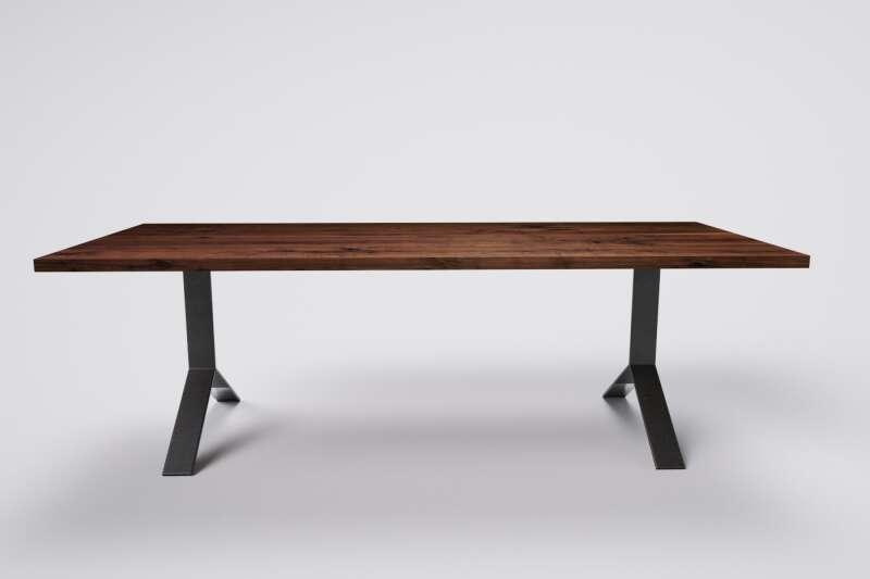 Nußbaum Massivholz Tisch Nach Mass Wohnsektion