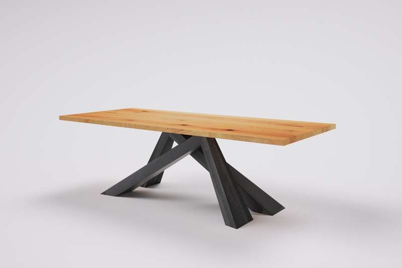 Massivholz Tisch Buche nach Maß Niels
