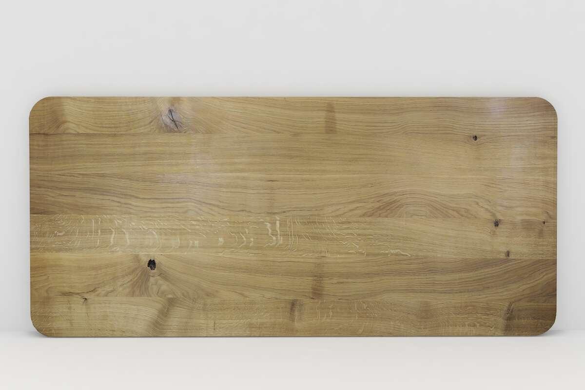 Tischplatte Vollholz Eiche nach Maß