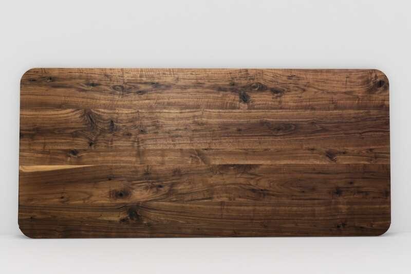 Tischplatte auf Maß Nussbaum massiv
