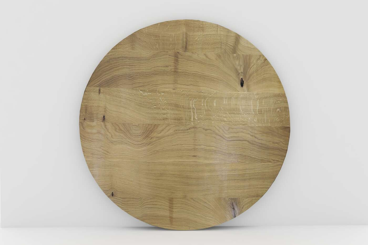 Massivholz Eiche Tischplatte rund nach deinem Maß