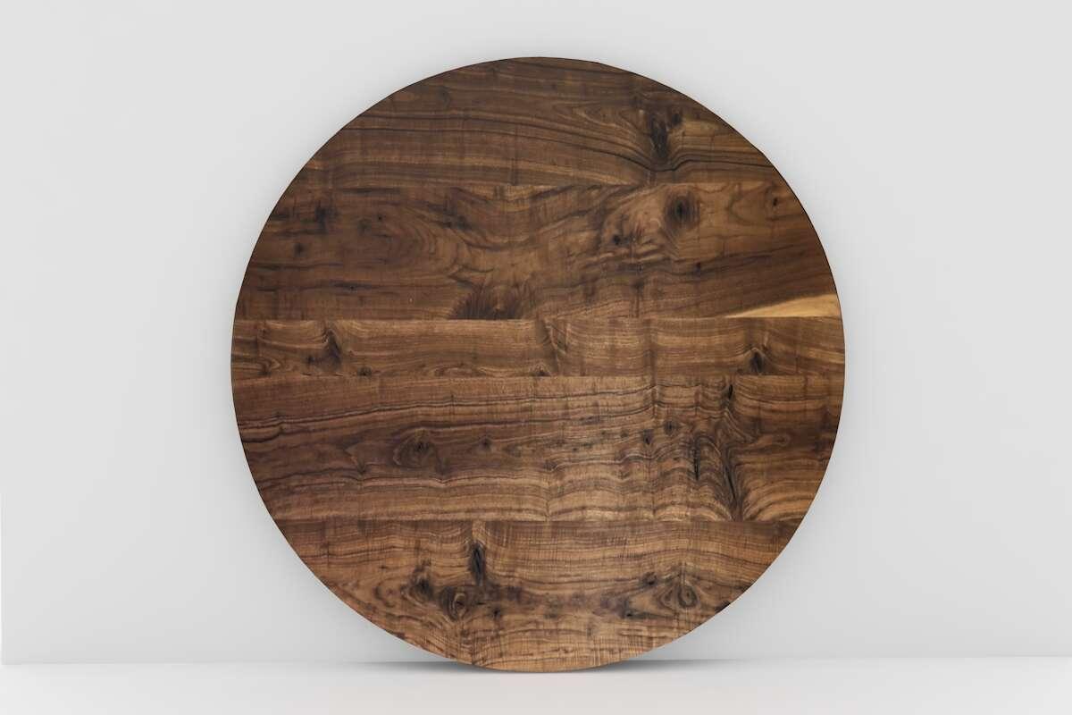 Gastro Nussbaum Tischplatte Rund nach Maß | wohnsektion