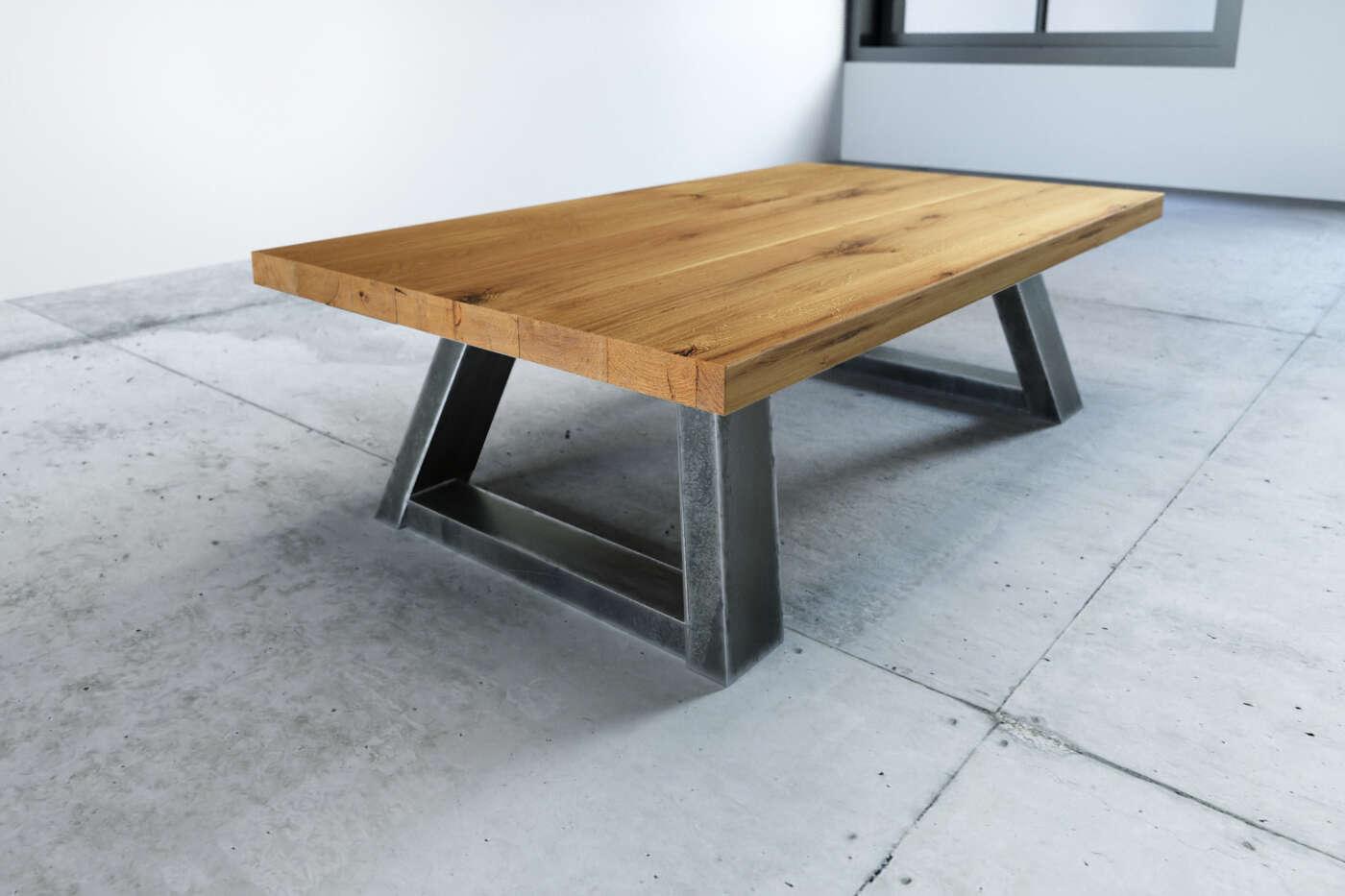 Couchtisch Holz Metall Larvik Eiche