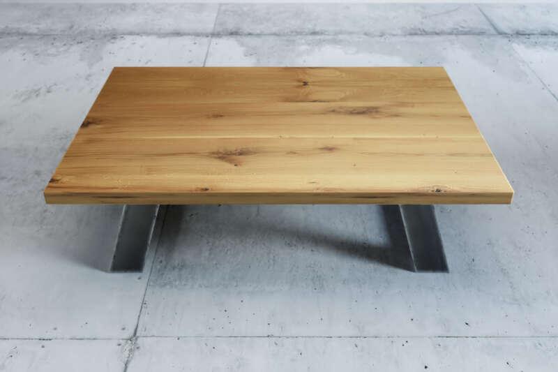 Couchtisch Holz Metall Larvik Eiche Wohnsektion