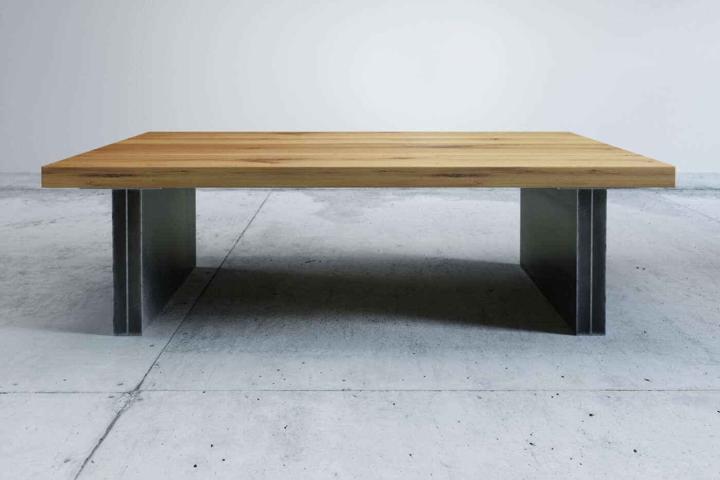 Couch tisch tonder eiche wohnsektion for Designer couchtisch