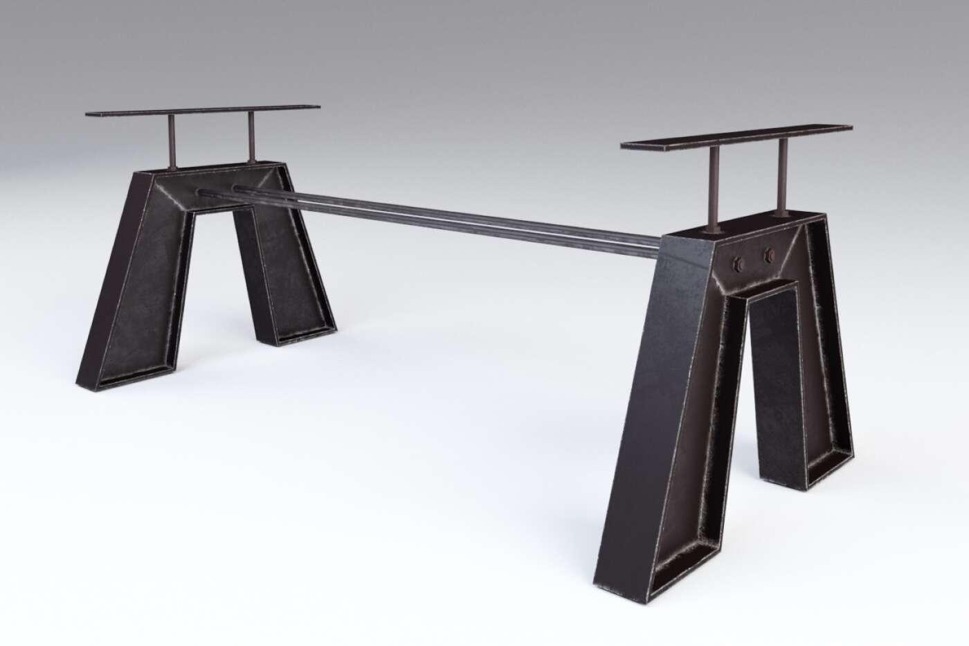 Tischgestell nach Maß aus Stahl im angesagten...