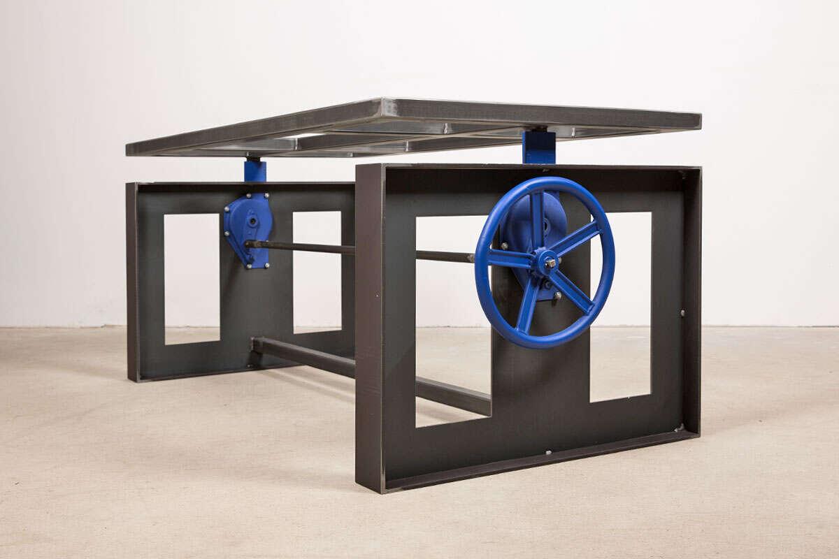Höhenverstellbares Tisch Tischgestell aus Stahl