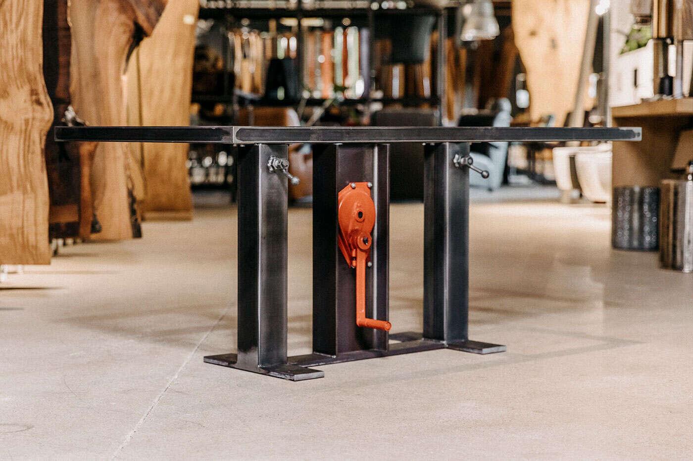 Stahl Esstisch Untergestell Compus höhenverstellbar