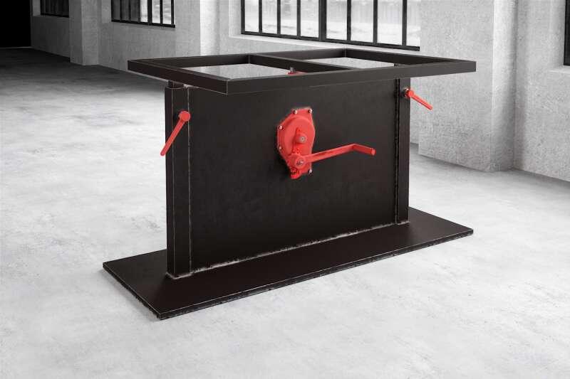 Mittelfuß Stahl Tischgestell höhenverstellung Nardon