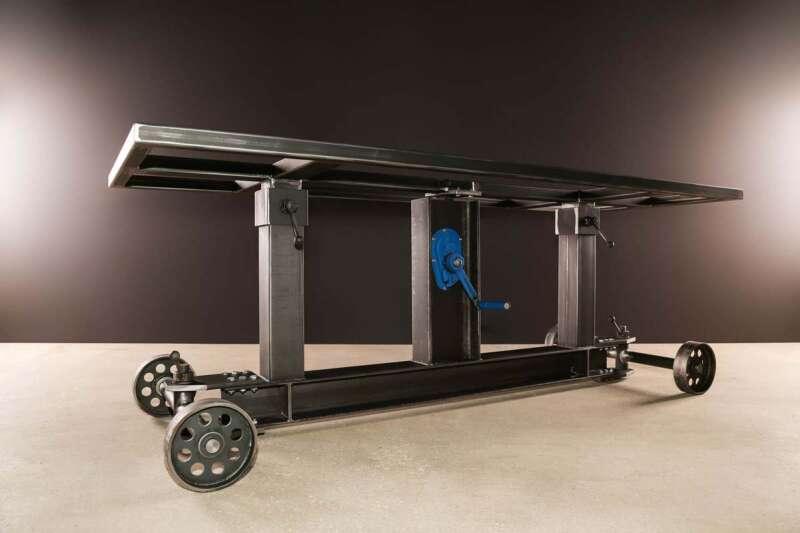 Industrie Stahl Tischgestell höhenverstellbar Elevator