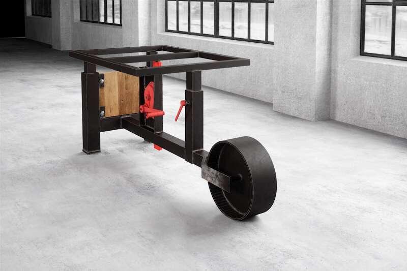 Esstischgestell höhenverstellbar und rollbar Rollos