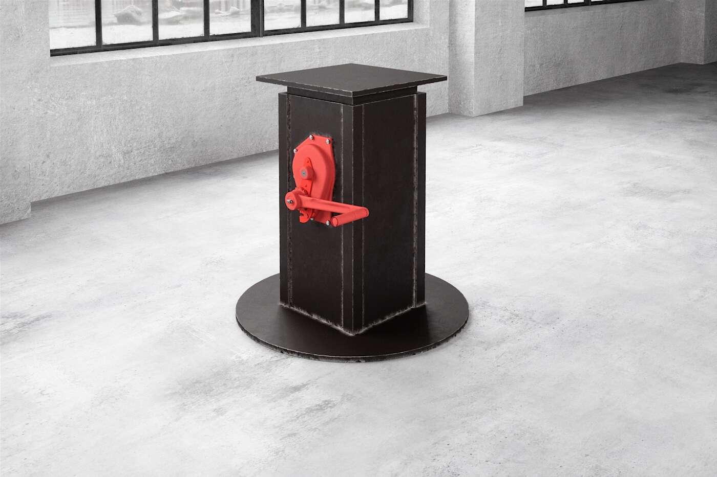 Mittelfuß Tischgestell höhenverstellbar aus Stahl