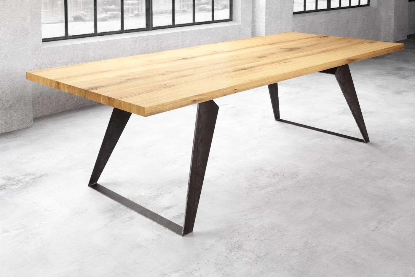 Essstisch Holz Stahl nach Maß