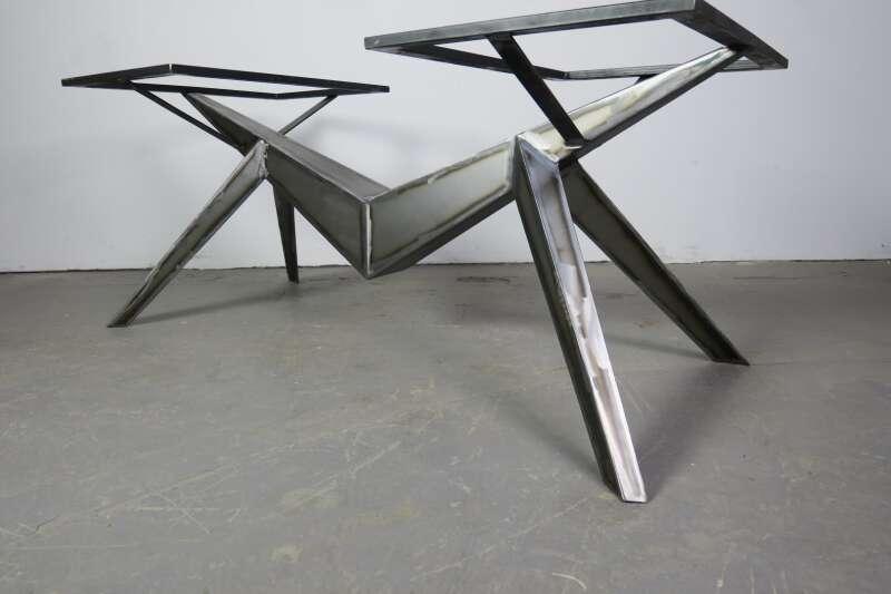 Tischuntergestell selbsttragend stahl