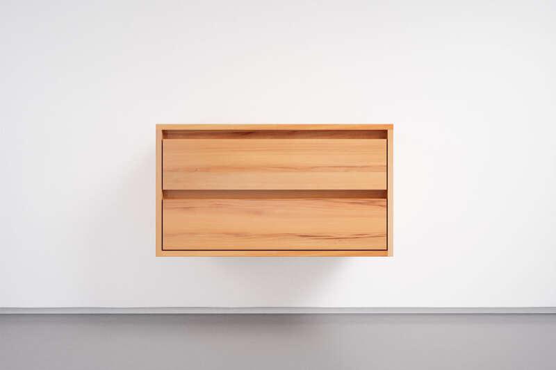 Schubladen Sideboard hängend Kernbuche massiv mit 4...