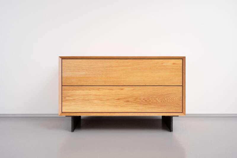 Kommode Eiche modern mit zwei Schubladen