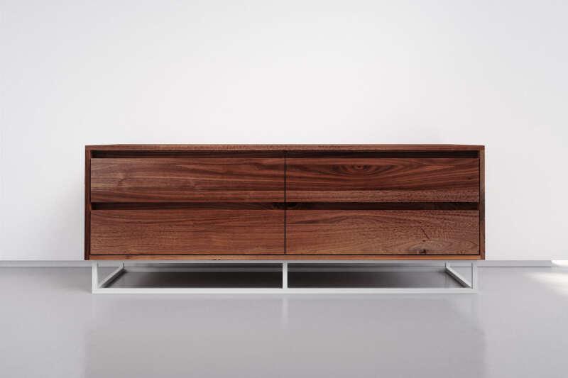 Esszimmer Sideboard mit Schubladen Nussbaum massiv