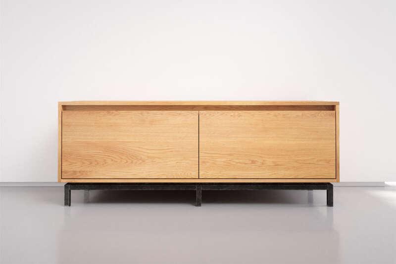 Eiche Lowboard modern mit Schubladen