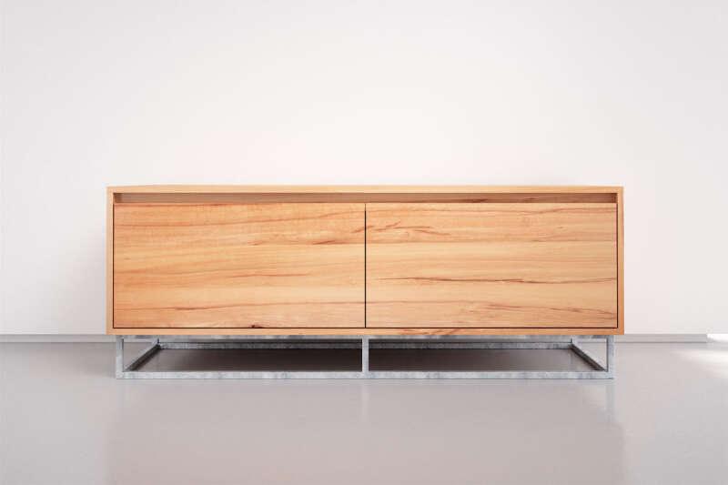 Holz Lowboard modern in Kernbuche
