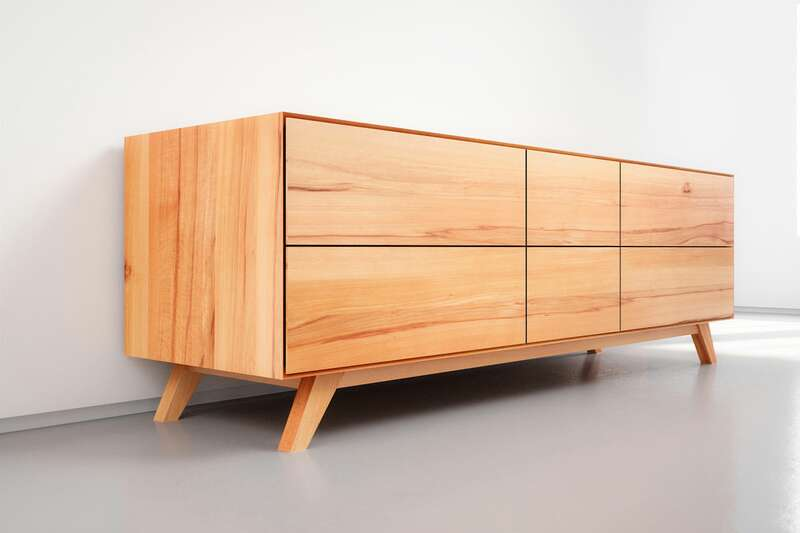 Design Sideboard massiv Kernbuche