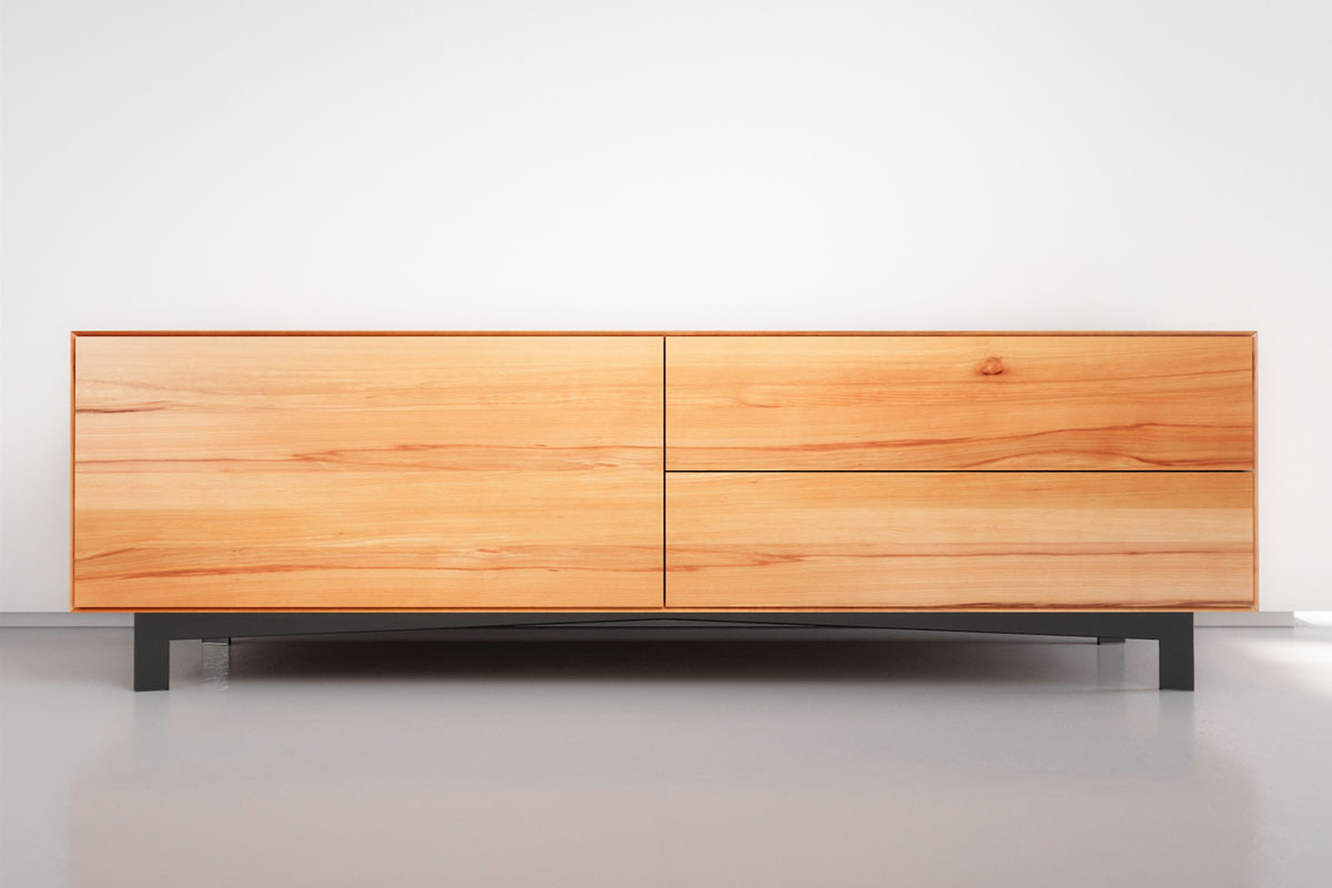 Massivholz Lowboard Buche