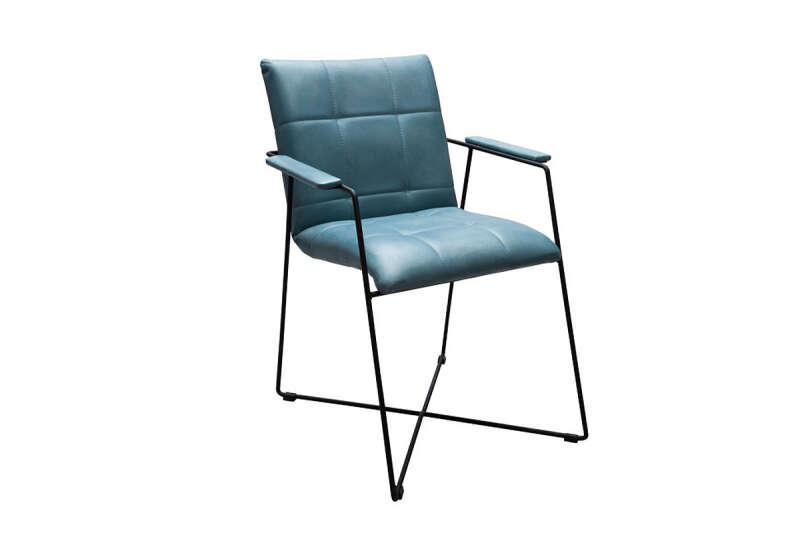 Stuhl modern Echtleder Modell Amelia