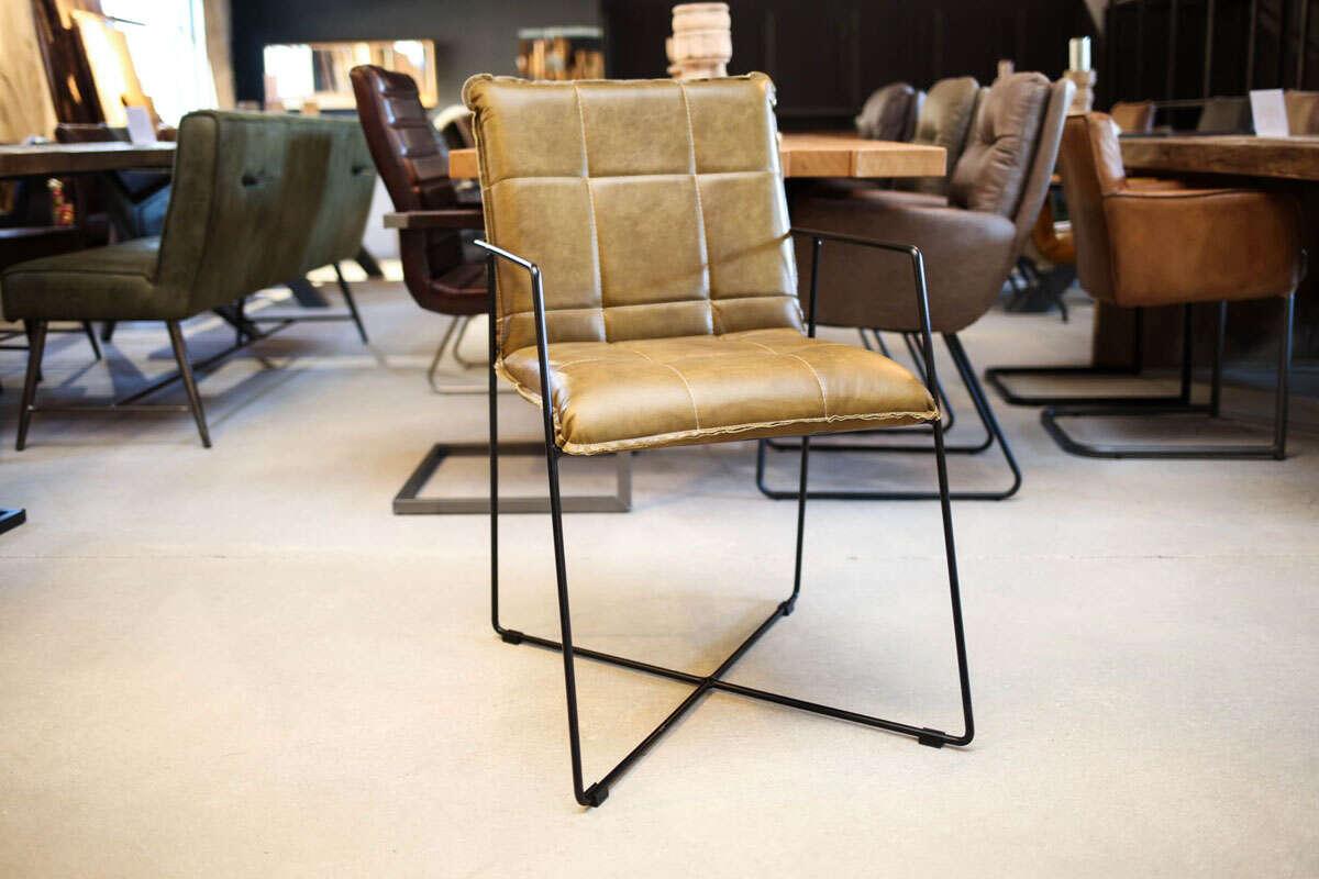 Moderner Stuhl Leder Amelia-S