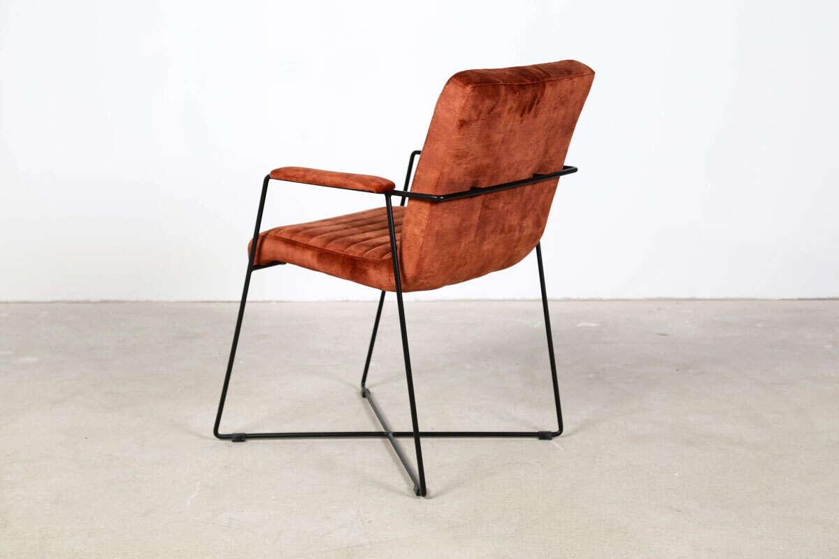Samt Stuhl Mit Armlehne Modern Wohnsektion
