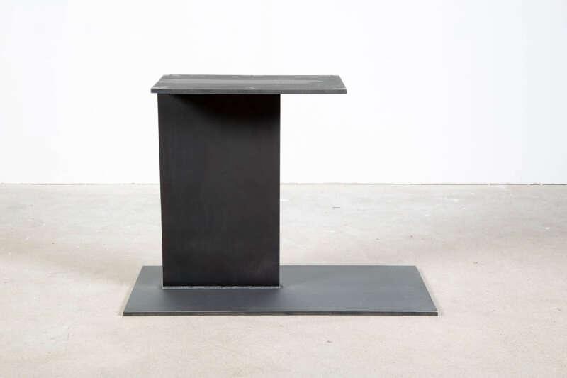 Stahl Mittelfuß Tischgestell asymetrisch