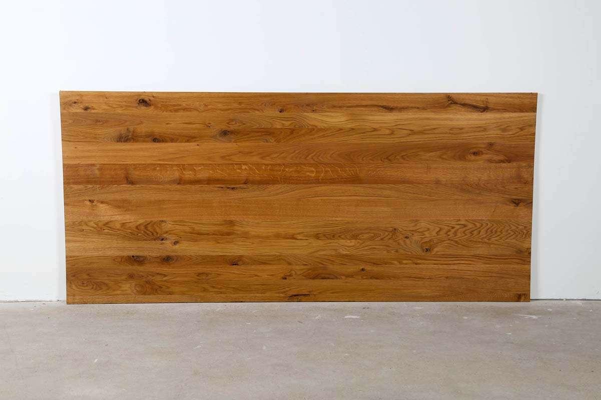 Eiche Echtholz Tischplatte Unikat 220x100x2