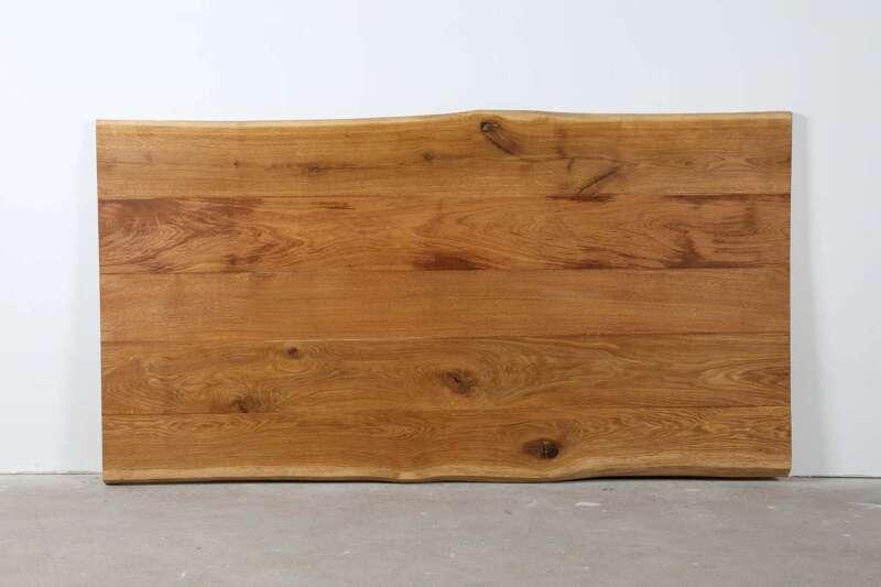 Tischplatte Eiche mit Baumkanten 200x108x4,5