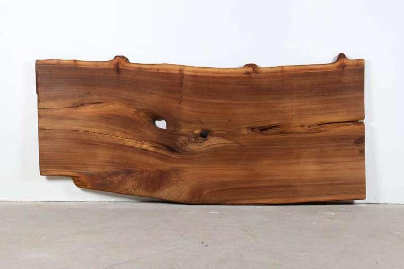 Baumtischplatte Eiche massiv 234x98x5