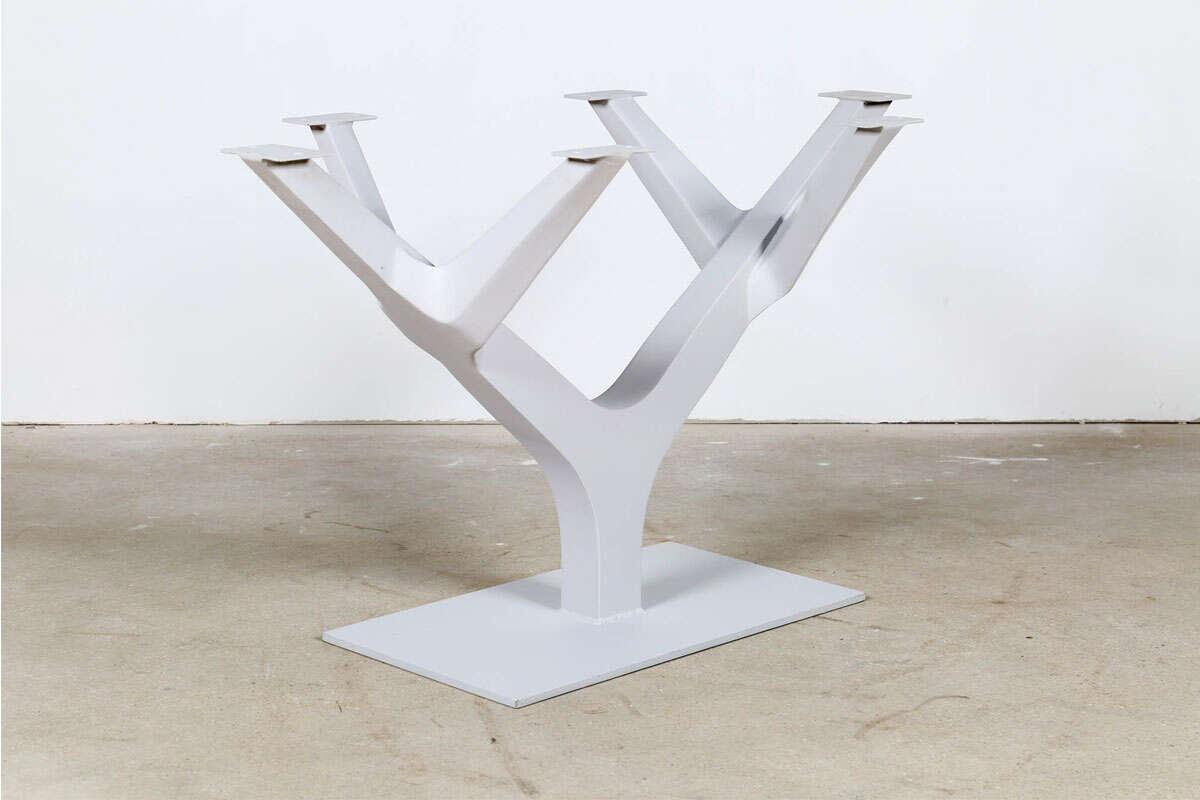 Stahl Tischgestell in Optik eines Baumes