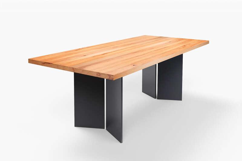 Esstisch mit Stahlwangen Buche Tarak