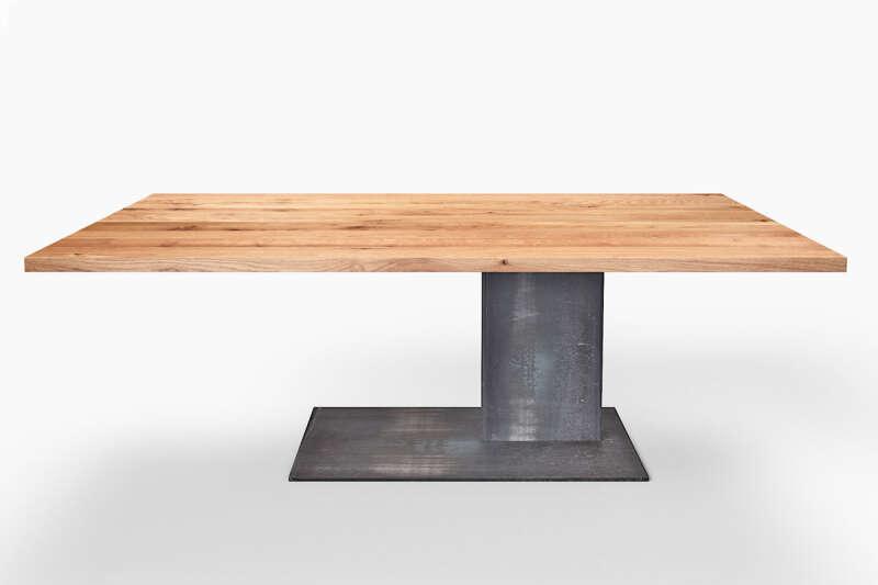 Tisch Mittelfuß Eiche Altholz Matheo