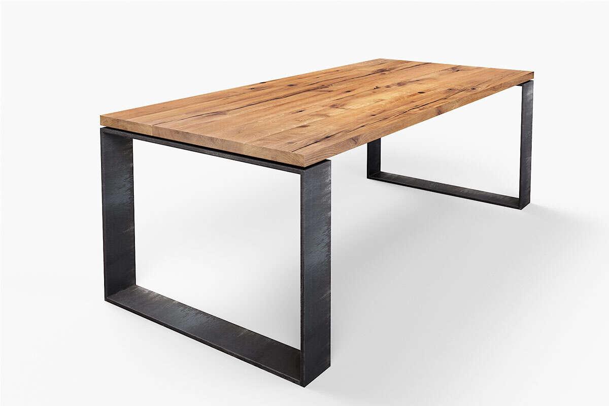Moderner Tisch Horik 15 Recycling-Eiche