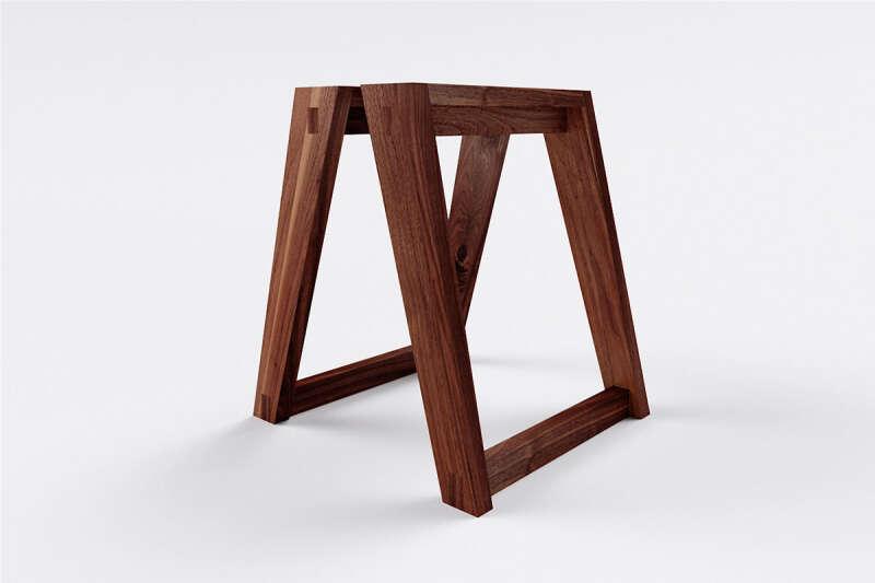 Tischkufen Massivholz Nussbaum Kenan