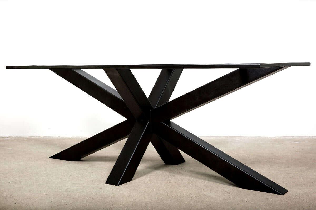 Stahl Tischgestell Bennet schwarz