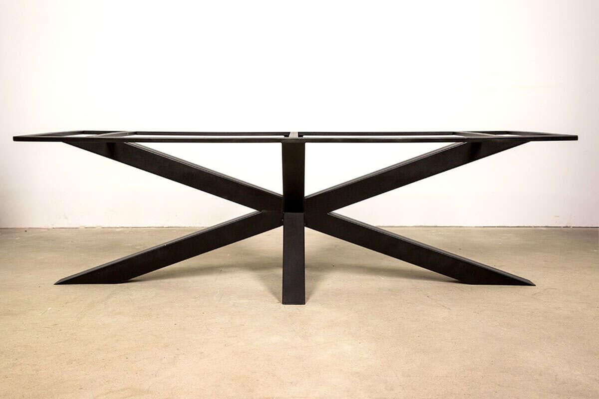 Metall Kreuz Tischgestell Schwarz