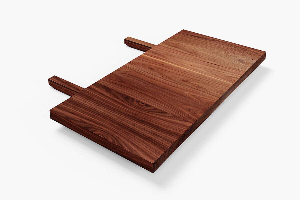 Tisch Erweiterung Nussbaum astfrei