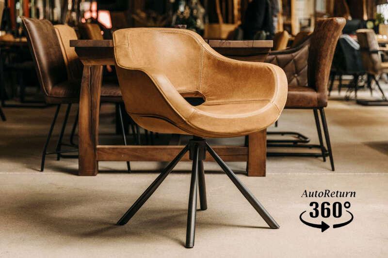 Drehstuhl Leder modern Cooper-G