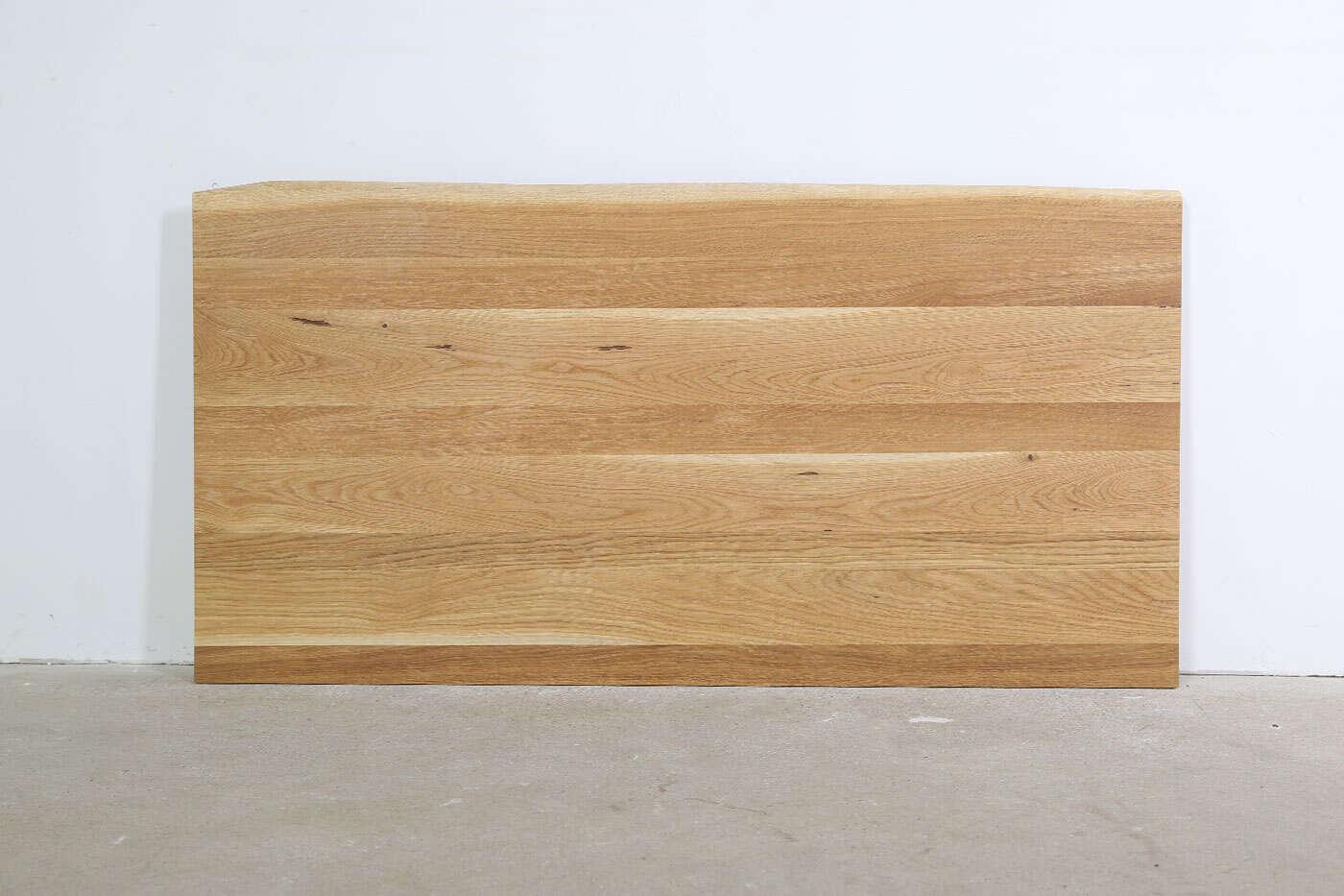 Schreibtischplatte Eiche massiv mit Baumkante Unikat 160...