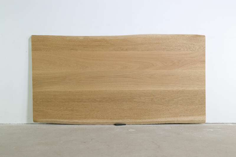 Tischplatte Eiche astfrei mit Baumkanten Unikat 190 x 100...