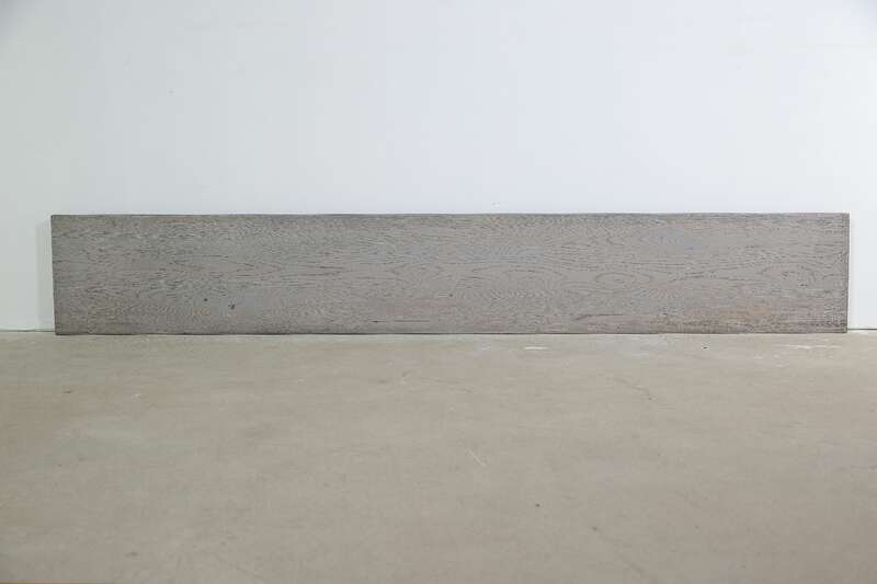Thekenplatte Eiche Grey vollmassiv Unikat 260 x 41 x 4cm